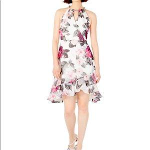 Calvin Klein Floral Halter Dress